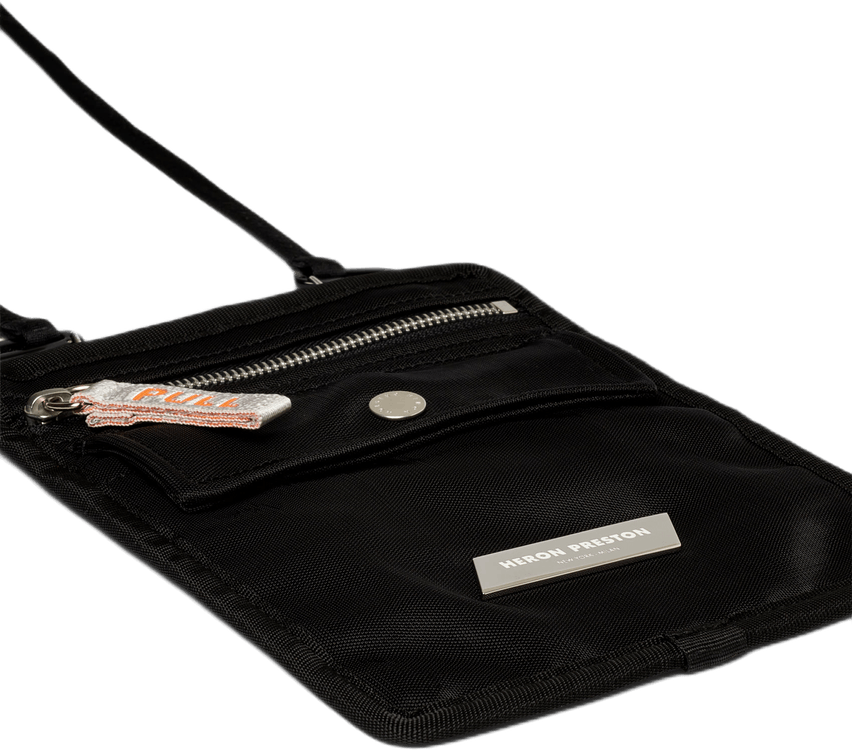 Cross Body Flat Bag Black