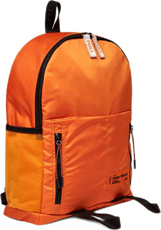 Round Zip Backpack Orange