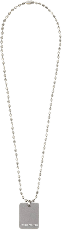 Dog Tag Necklace Silver