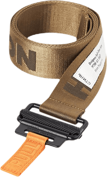 Tape Belt 4cm Classic Buckle Khaki