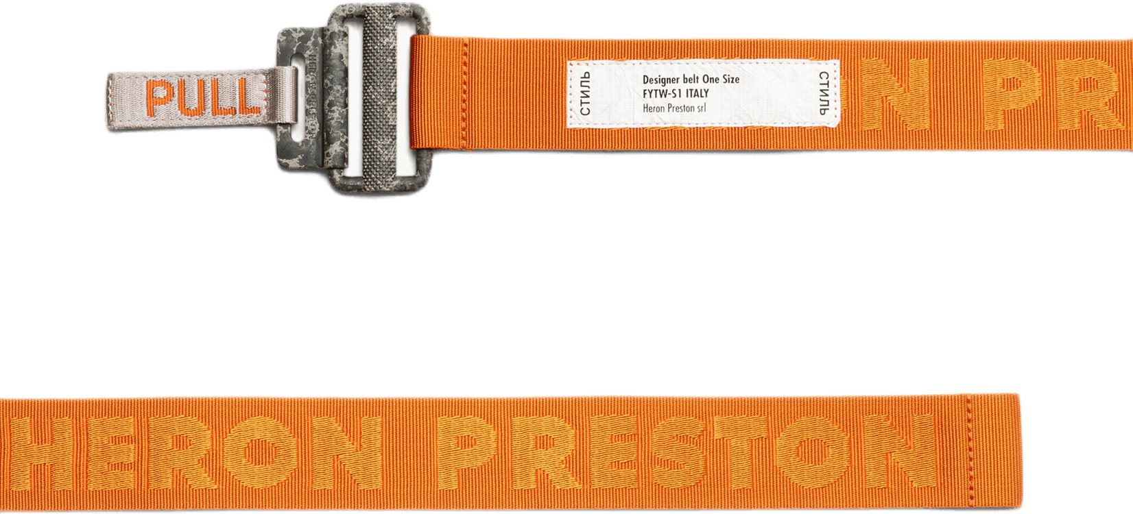 Gros Tape Belt Colored Buckle Orange