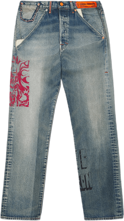X Levis 501 Concrete Jungle Vi Pink
