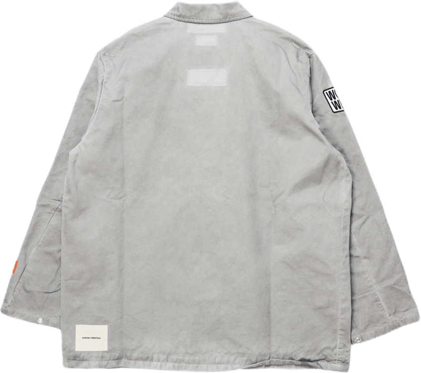 Overdyed Os Denim Shirt Gray