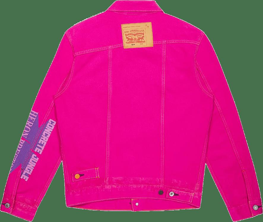 X Levis  Trucker Jkt Concrete  Pink
