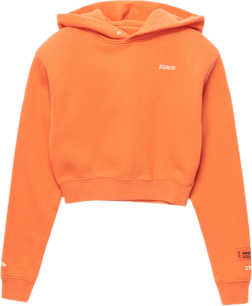 Cropped Hoodie Logo Golden Orange