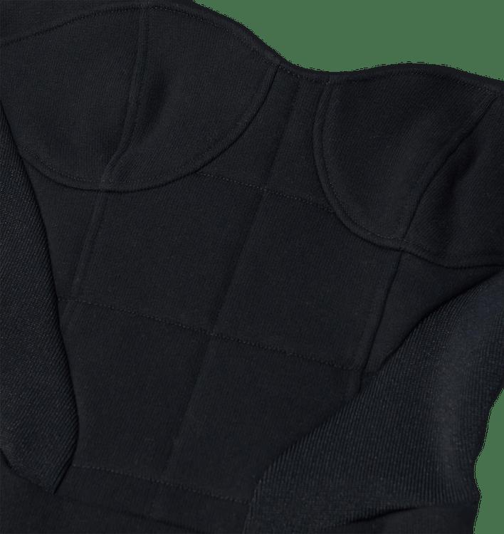 Hoodie Corset Dress Black