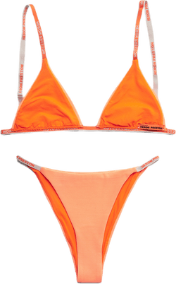 Triangle Bikini Lycra Net Orange