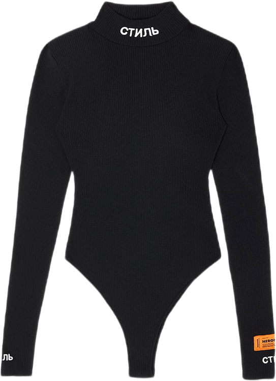 Knit Mock Body Ls Black