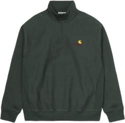 Half Zip American Script Sweat Green