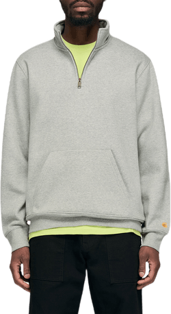 Chase Neck Zip Sweatshirt Gray