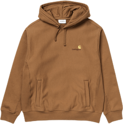 Hooded American Script Sweatsh Brown