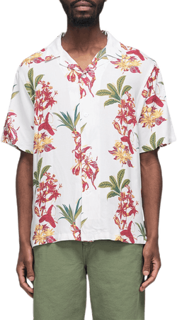 Hawaiin Floral Shirt White