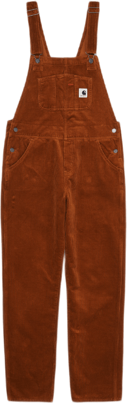 W Bib Overall Straight Brown
