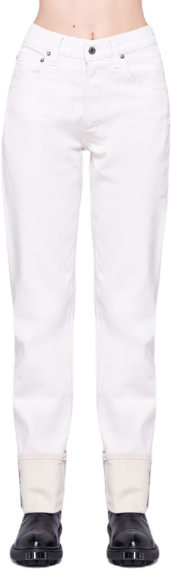 Masc Hi Straight Pants White
