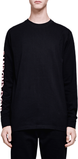 Bar Cross Long Sleeve Tee Black