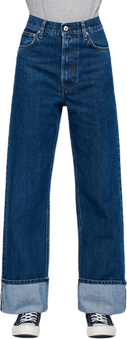 Fem Hi Straight Jeans Blue