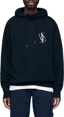 Black Mirrored Monogram Hoodie Black