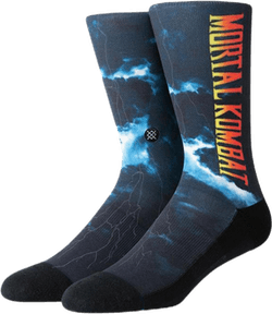 Mortal Kombat Ii Socks Black