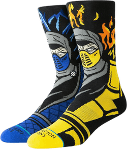 Sub Zero Vs Scorpion Socks Black