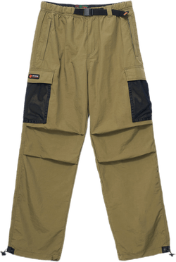 Mesh Pocket Cargo Pants Green