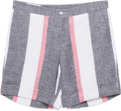 Striped Linen Shorts Blue