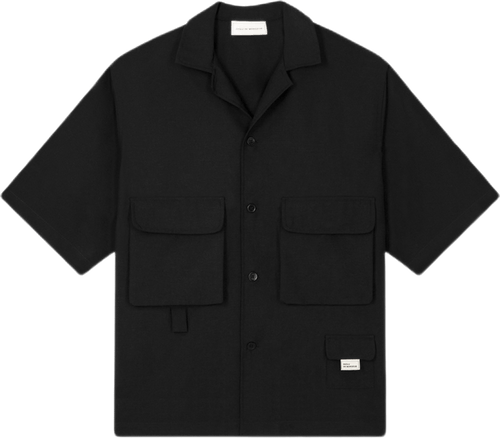 Wool Utility Shirt Black