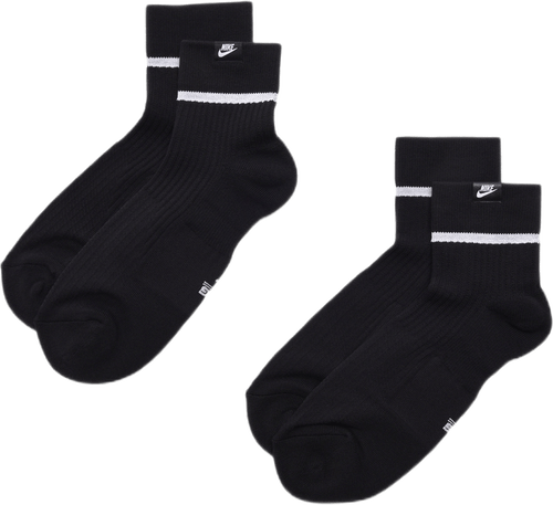 Essential Sneaker Socks 2 Pack Black