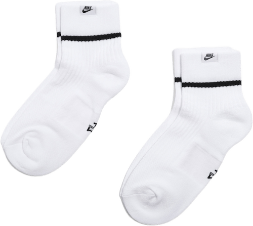 Essential Sneaker Socks 2 Pack White