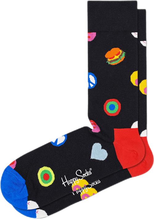 Symbol Dot Sock Multi