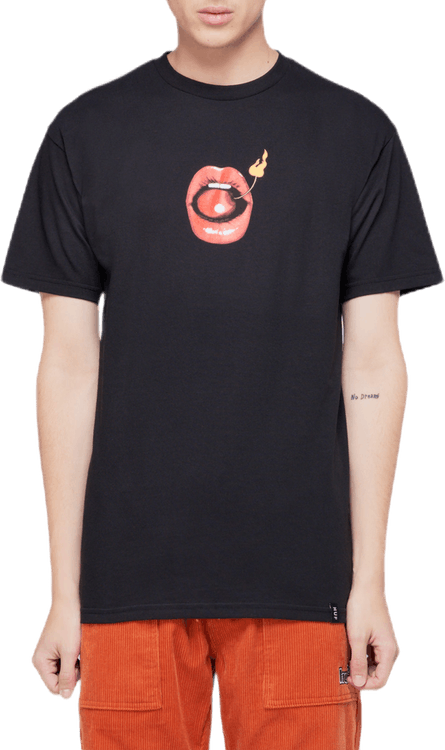Hot Lips Tee Black