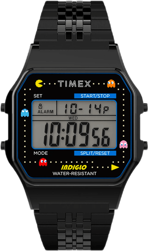 T80 X Pac-man 34mm Stainless S Black