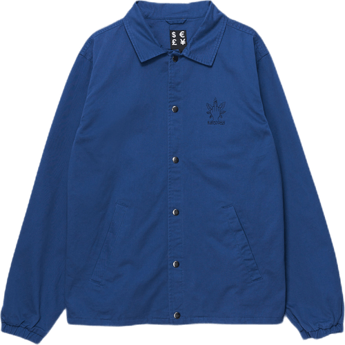 Weed Fingers Coach Jacket Blue