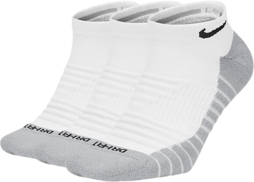 3-pack Everyday Max Cushioned White/Grey