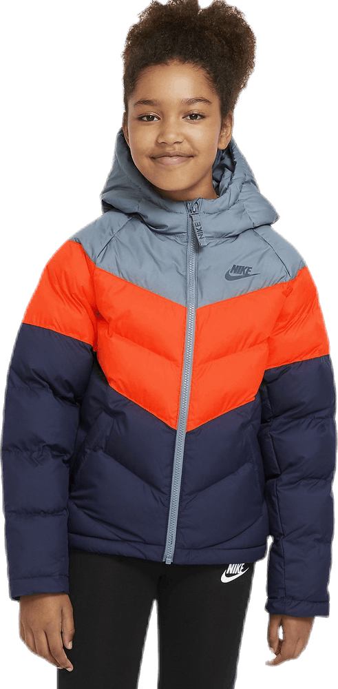Jr NSW Stadium Jacket Orange/Blue