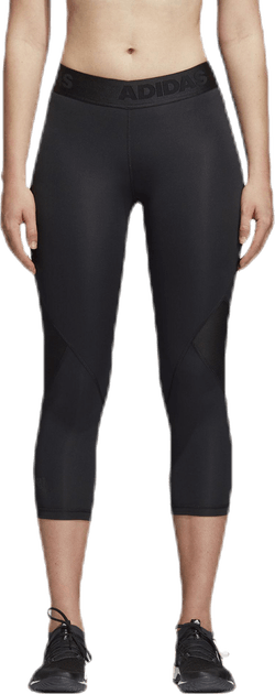 Alphaskin Sport 3/4 Tights Black