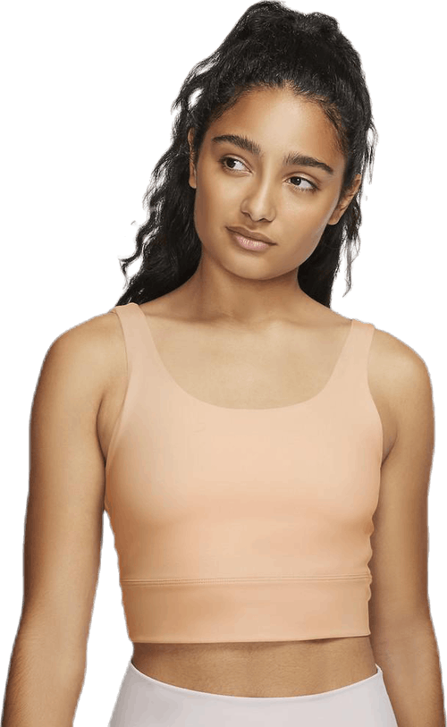 Nike Yoga Luxe Crop Top Orange