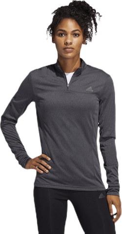 Own The Run Half-Zip Long-Sleeve Top Grey