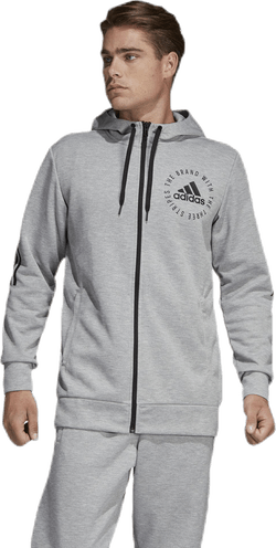 Sid Full Zip Hood Grey