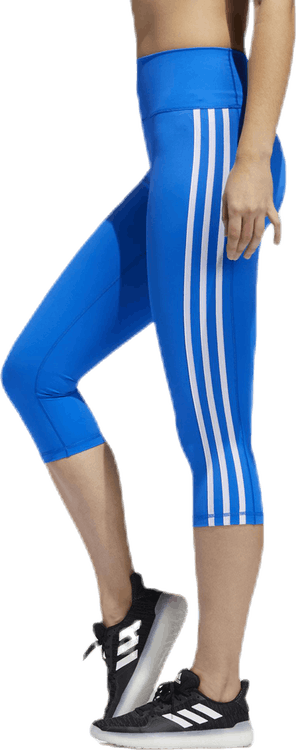 Believe This 2.0 3-Stripes 3/4 Leggings Blue