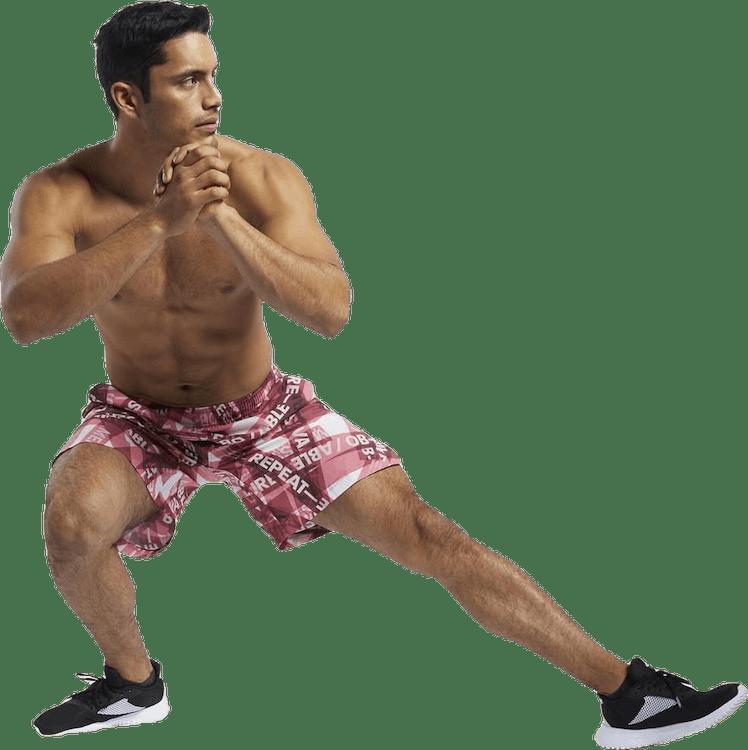 Reebok CrossFit® Austin II Taped Print Shorts Red