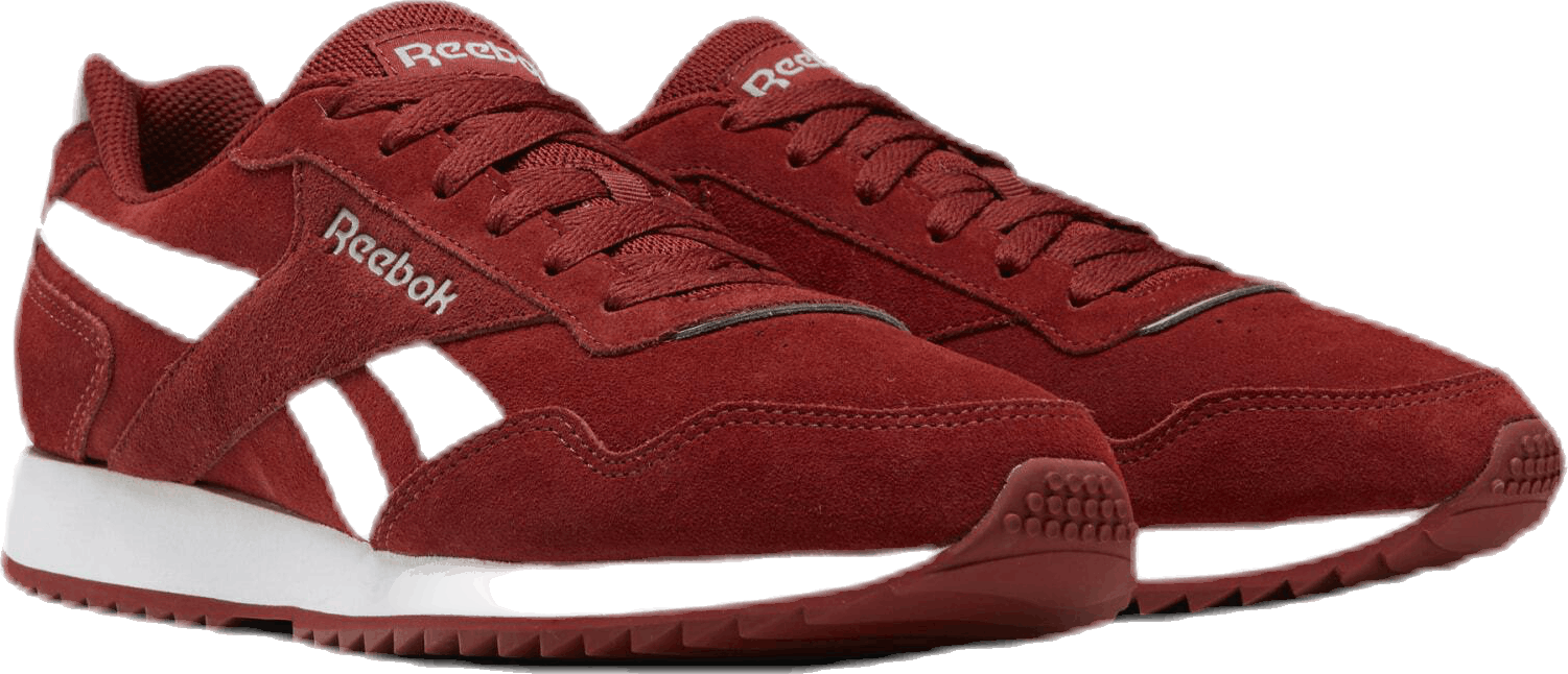Reebok Royal Glide Ripple Shoes Red