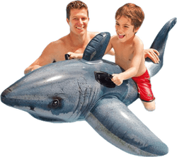 Great White Shark Ride-On Grey