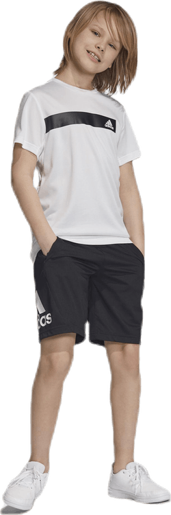 Training EQ Knit Shorts Youth White/Black