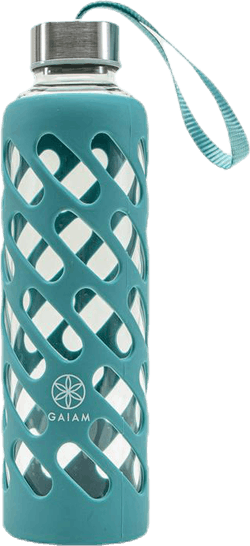 Sure Grip Glass Water Bottle Viridian Blue