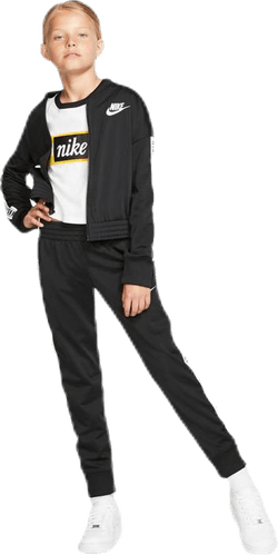 Girls Tricot Essential Tracksuit Black