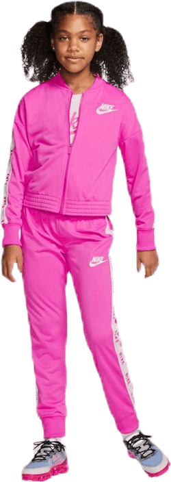 Girls Tricot Essential Tracksuit Pink