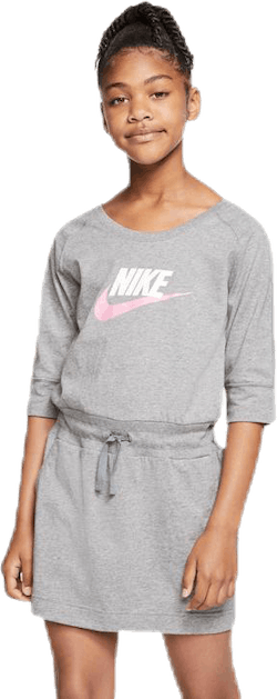Swoosh Jersey Dress Jr Grey