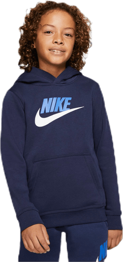 Club Fleece Hoodie Jr Blue/White