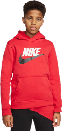 Club Fleece Hoodie Jr Red