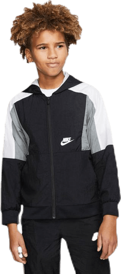Woven Front Zip Training Jr Black